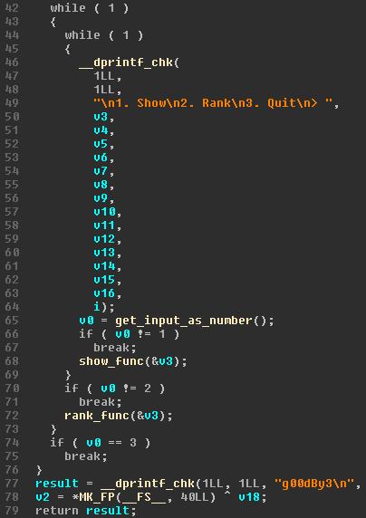 Decompilation of main_loop
