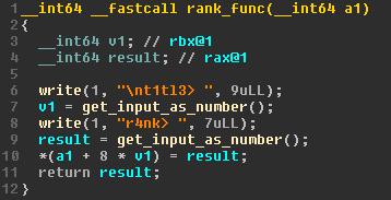 Decompilation of rank_func